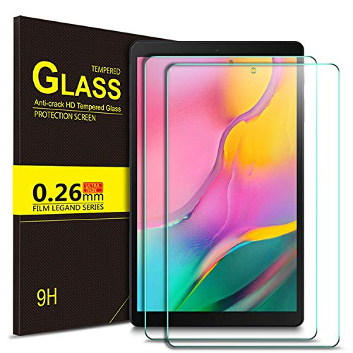 IVSO Screen Protector for Samsung Galaxy Tab A 10.1 2019,No-Bubble Tempered Glass Screen Protector for Samsung Galaxy Tab A 10.1 Inch SM-T510,SM-T515 2019 Release Tablet (2pcs)