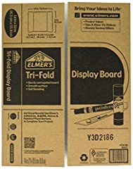 Self-standing tri-fold corrugated display board Double-ply construction for durability Smooth white surfaces for markers, paints, and adhesives Foldable for easy storage and transport Made of 100% recyclable materials