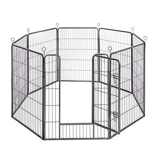 FEANDREA Fence 8 Animal Panels, Dog Box,...
