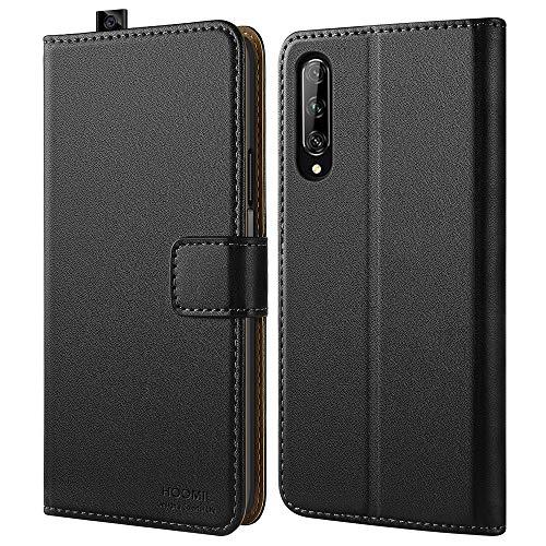 HOOMIL Handyhülle für Huawei P Smart Pro Hülle, Premium PU Leder Flip Schutzhülle für Huawei P Smart Pro Tasche, Schwarz
