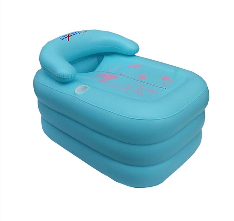 ZHDC? Inflatable bathtub, Thickening adult Bath barrel individual Collapsible adult Bath tub Bathtub Folding, convenient ( color   bluee )