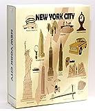 World By Shotglass Ciudad de Nueva York en Relieve álbum de Fotos 100Fotos/4x 6