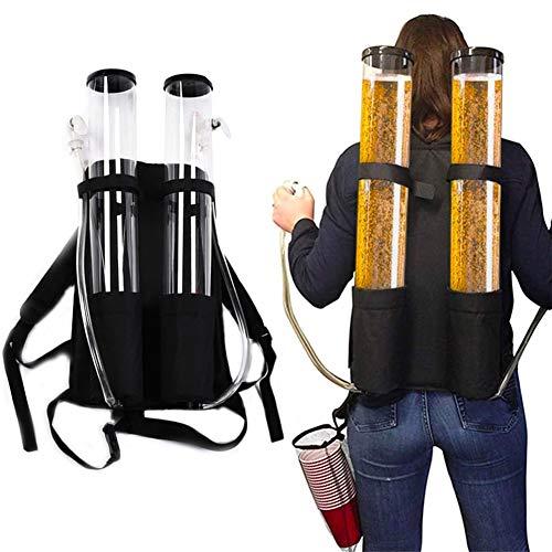 SLTZ Rucksack Bierspender Mobilbierturm Drink Dispenser 6L Bier-Fass 2 Schlauch Taps Oktoberfest Bachelor Party Home Bars Accessoires,6l
