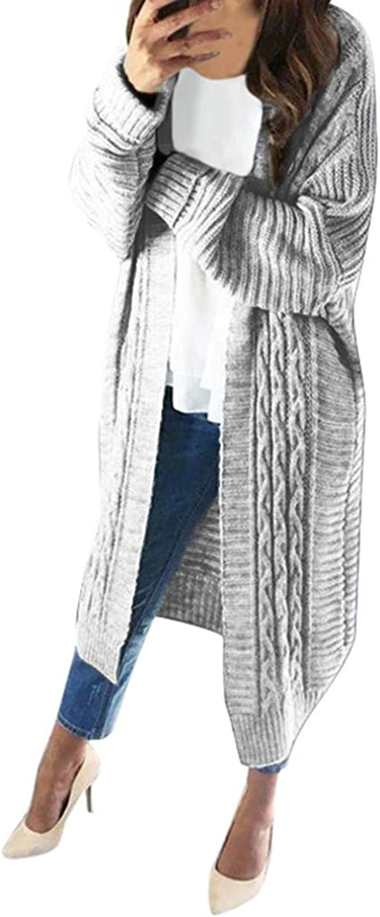 UOFOCO Women Cardigan Long Sleeved Light Weight Casual Knit Cardigan Sweaters