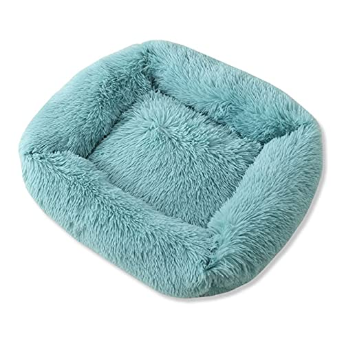 ZCLS Cozy Plush Calming Pet Dog Bed Basket Square Cat Nest Soft Winter Warm Sleeping Mat House for Small Medium Large Dogs