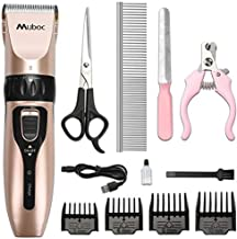Muboc Dog Grooming Clippers, Professional Pet Grooming Clippers, Rechargeable Hair Clippers Cordless Electric Low Noise Pet Clippers, Dog Grooming Kit Supplies for Small Dogs and Large Dogs