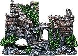 TBNB Decoración de Acuario, Castillo de Piedra, decoración de pecera, Plantas con Musgo, artesanías de Resina, Musgo, decoración de pecera de Acuario, Accesorios para Muebles de Acuario