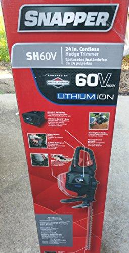 Fantastic Prices! Snapper SH60V 60V Hedge Trimmer includes 2Ah Battery and Charger