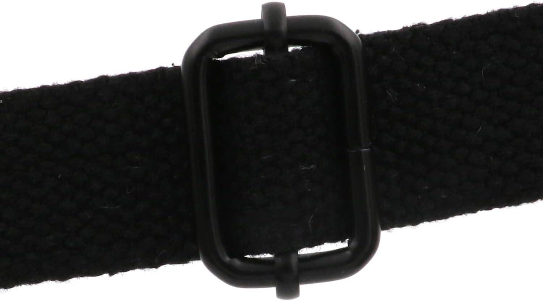 BIKICOCO Metal Slide Adjuster Buckle Tri Glide with Movable Center Bar Non Welded 2.5 x 1.5 cm Black Pack of 10