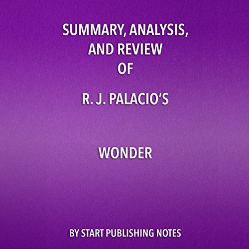 Summary, Analysis, and Review of R. J. Palacio's Wonder audiobook cover art