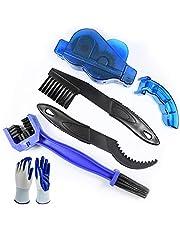 Nsiwem Fiets schoonmaken kit 4 stks Fiets Ketting Cleaner Tool Set Fiets Ketting schoonmaken Borstel Ketting Cleaner Mountainbike Reiniging Onderhoud Tool met 1 Paar Handschoenen
