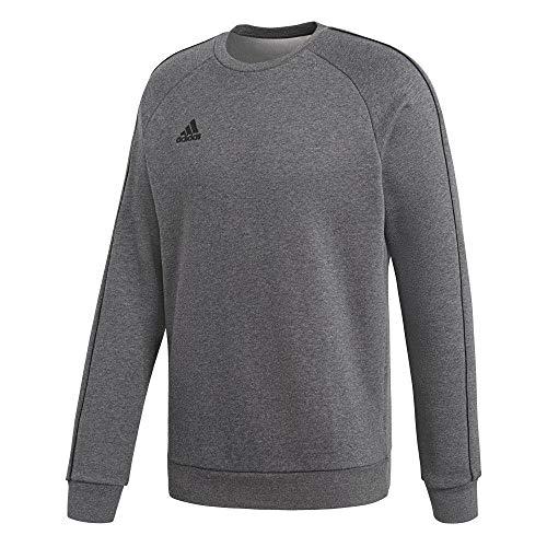 adidas Herren Core 18 Sweat Trainingstop, Dark Grey Heather/Black, M