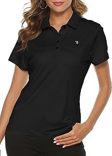 MoFiz Ladies Golf Shirts Short Sleeve Moisture Wicking Performance Polo Shirts