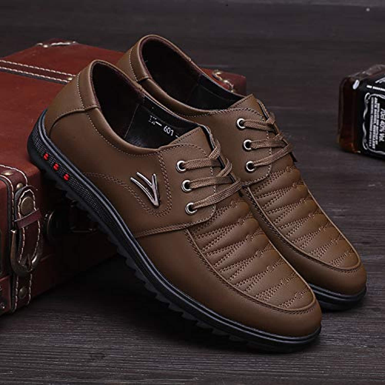 LOVDRAM Men'S Leather shoes Men'S Leather shoes Leather shoes Casual Men'S shoes Boots