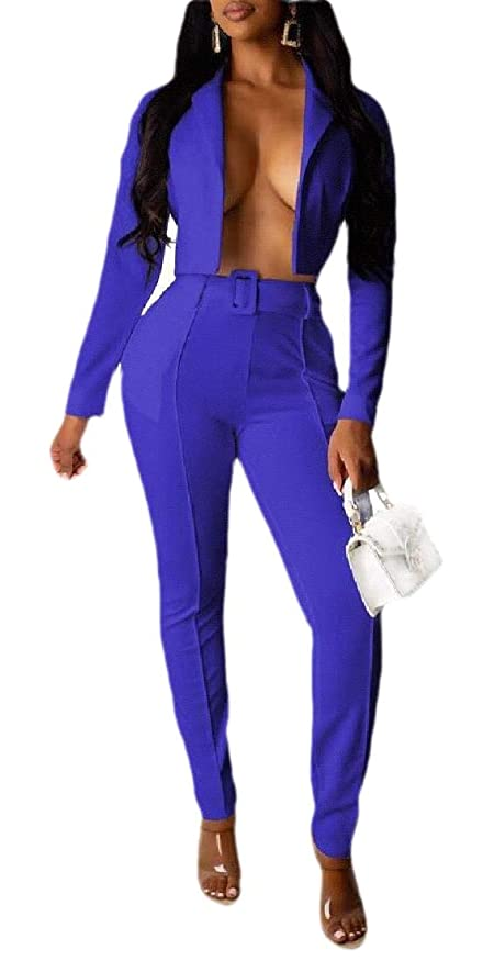 有力者フィラデルフィアみがきますレディース2ピース衣装長袖 ソリッドブレザー パンツ カジュアルエレガントなビジネススーツセット