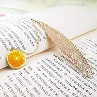 学生文具フレンズギフト包装メタルフェザーブックマーク豪華な黄金のブックマークのクリエイティブペンダントギフトボックス (色 : B)