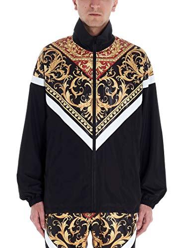 Luxury Fashion | Versace Heren A85246A232533A7207 Zwart Polyester Outerwear Jassen | Lente-zomer 20