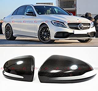 Cuztom Tuning Fits for 2015-2019 Mercedes Benz W205 C-Class C300 C400 & W213 E-Class & W222 S Class S550 S600 Carbon Fiber Side Mirror Cover Caps Pair