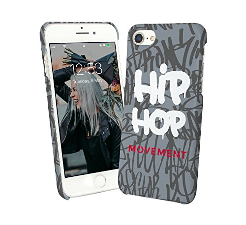 Hip Hop Movement Tags Street Dance_000252 iPhone 6 7 8 X Galaxy Note 8 Huawei Custodia Protettiva Hard Plastic Cover Case Regalo anniversario compleanno Natale