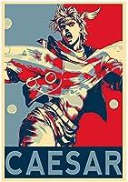 インテリアポスター・プリント- ジョジョの奇妙な冒険シーザー広告 アートキャンバス絵画 インテリアパネル インテリア絵画 新築飾り 贈り物 サイズ(40x60cm)
