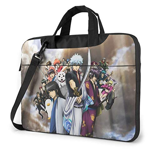 XCNGG Anime Gintama Stylish Customized Laptop Shoulder Bag, Suitable for 13-15.6 inch MacBook Pro/Air and Most Other Laptops, Portable Laptop Bags, Briefcase Protective Covers