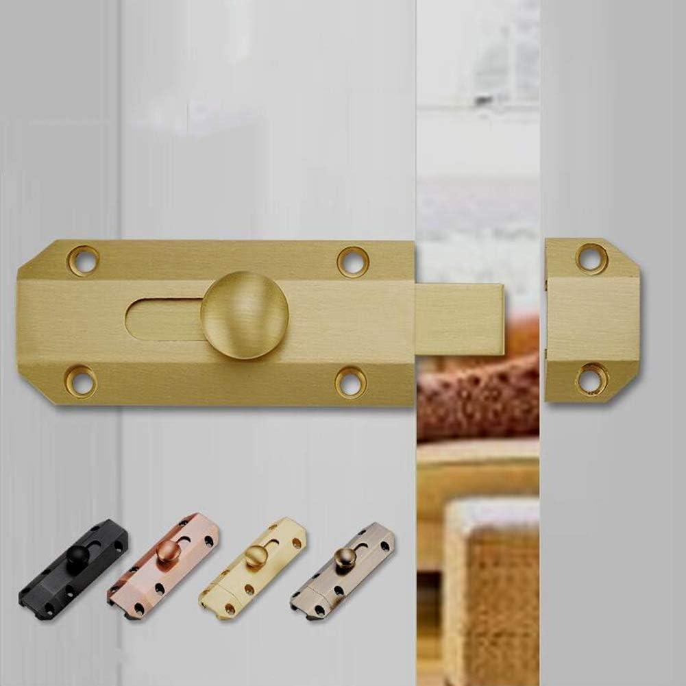 Color : Black MUMA Copper Slide Latch Barrel Bolt,Guard Door Latch,Cabinet Lock,Heavy Duty Gate Sliding Bolt Latches
