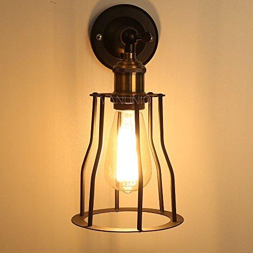 Lightess ブラケットライト レトロ 照明器具 アンティーク調 ランプシェード 玄関ライト ウォールランプ  壁掛けライト E26口金 電球無し