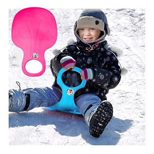 Byeel Schlitten Bob für Kinder zum Porutschen & Schlittenfahren Schneeflitzer zum Rodeln Schneerutscher für die ganze Familie - Schlitten (HT)