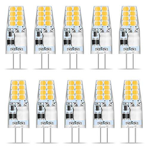 G4 LED Warmweiss, Wenscha 10er G4 12V LED Lampe, 3W Warmweiß 3000K 16x 2835 SMD Ersetzt 35W Halogenlampe, Kein Flackern, 350Lumen G4 Birne Leuchtmittel, 360° Abstrahwinkel Spot, Nicht Dimmbar