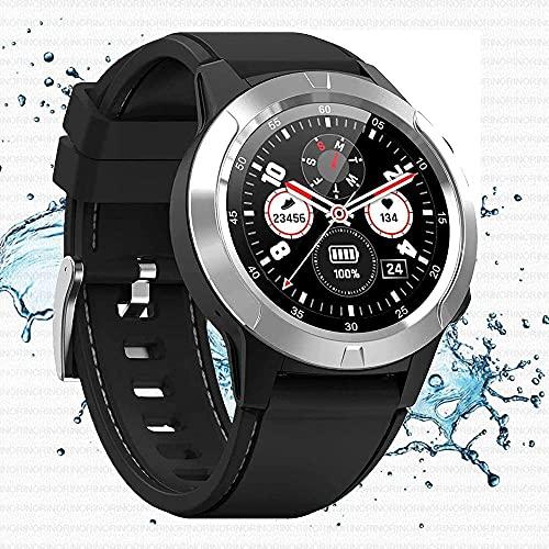 Orologio intelligente 1.3 full touch fitness tracker orologio con contatore monitor sonno e impermeabile, adatto per palestra o outdoor-Silver