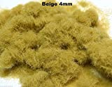 WWS Beige 4mm Mix Modelo Basing Hierba esttica 10g G, O, HO/OO, TT, N.Z Wargames
