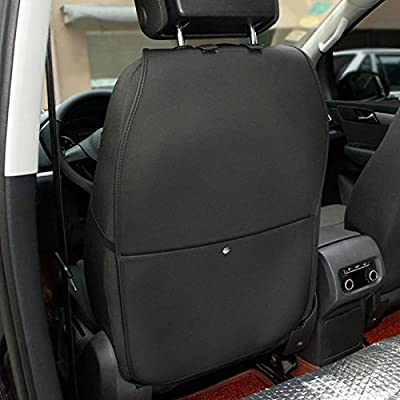 2 Pack Black HONCENMAX Kick Mat Car Seat Back Protector Waterproof Easy to Clean Multifunctional Organizer Storage Bag Travel Accessory PU Leather
