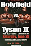 Limited Edition Mike Tyson V Evander Holyfield Signiert