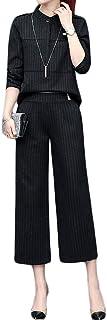 パンツスーツ レディース スーツ 上下 セットアップ 長袖 秋 春 ワイドパンツ 九分丈 チェック おしゃれ フォーマル 通勤 就職 オフィス OL カジュアル