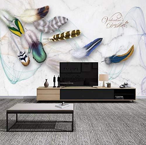 Mode Kleur Veer Retro TV Achtergrond muur Esthetische Elegante Woonkamer Slaapkamer Slaapkamer Slaapbank Decoratieve muurschilderingen 400×200cm