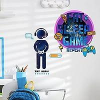 ステッカーゲームパッドウォールステッカー男の子の寝室の装飾のための粘着性の落書きステッカーゲーマーウォールステッカー