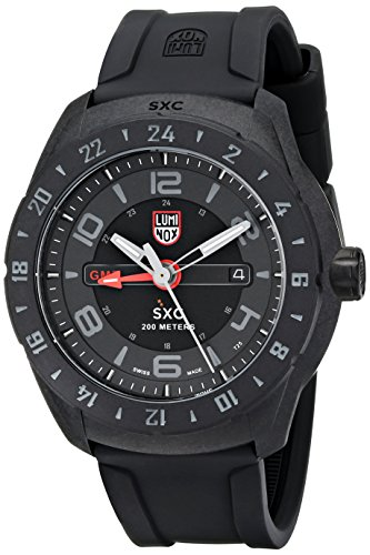 Luminox Men's 5021.GN SXC PC Carbon GMT Analog Display Quartz Black Watch