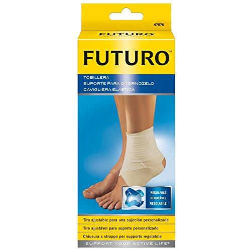 Futuro Elastische Knöchelbandage zur Zerrung, Sport-Fußgelenk, verstellbar, für Fußgewölbe, medizinisches Schutzband für Kompression und Wärme, Größe L
