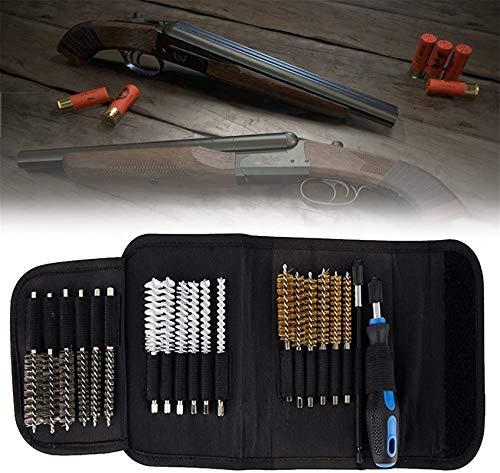 wsbdking Kit di pulizia della pistola da 20pcs, set di strumenti di pulizia e riparazione aerografo, con spazzole da camera alesaggio Kit di pulizia per la pulizia, custodia portatile compatta, kit di