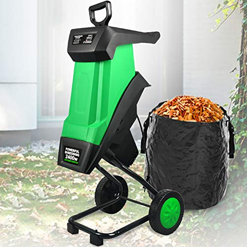 CRZJ Garden Tree Branch Crusher Machine, Electric Wood Chipper Shredder...