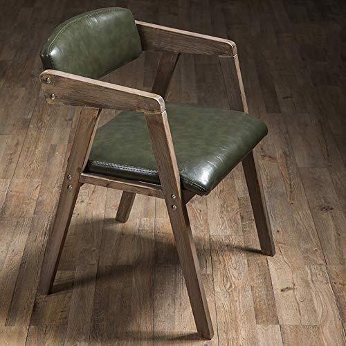 XI moderne minimalistische massief hout eetstoel, Scandinavische fauteuil, Retro Amerikaanse bureaustoel, Home Restaurant rugleuning vrije tijd kruk