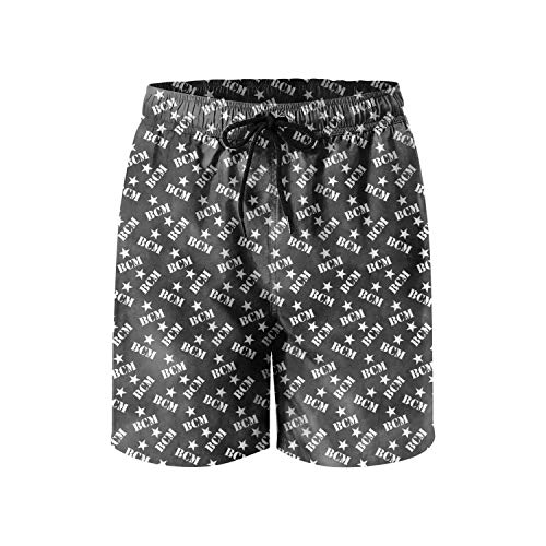 YTYHE Men Home Shorts Baylor-College-of-Medicine-Black- Casual Printed Quick Dry Swimming Trunks Short