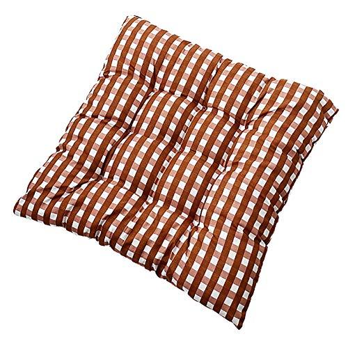 Cojín suave para silla, 100% algodón con lazos, relleno extraíble de poliéster exterior para terraza, cafetería, bar, cojines antideslizantes