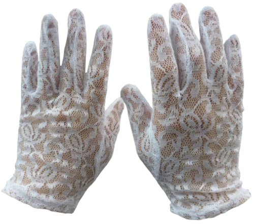 N'ice Caps Girls Special Occasion Lace Gloves (6-10yrs)