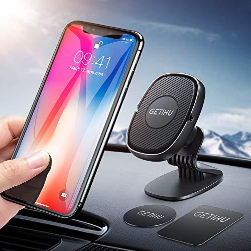 GETIHU handyhalter fürs auto, 360°Grad Drehung Armaturenbrett handyhalterung auto, magnetische Universelle KFZ Handyhalter mit GPS, kompatible mit iPhone Samsung Galaxy Huawei Motrola Oneplus und mehr