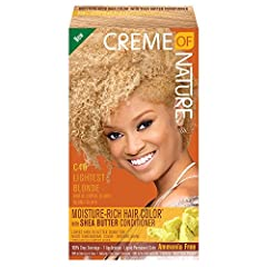 This product is Manufactured in United States This Product is Easy to use Creme of Nature Moisture Rich Hair Color C43 Light Blonde Kit