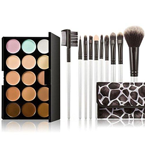 Pixnor 15 couleurs Premium qualité visage Contour crème anticernes Palette avec des ensembles de brosses