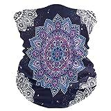 CPYang - Pañuelo para el cuello, bandana con diseño de mandala étnica y floral,...