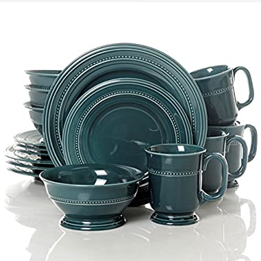 Gibson Barberware 16 Piece Dinnerware Set, Blue