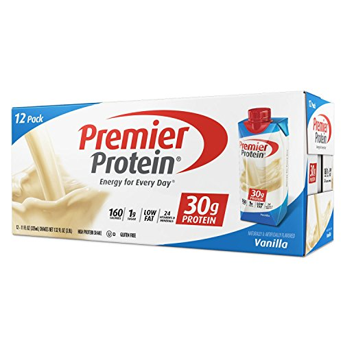 Premier Protein 30g Protein Shakes Vanilla 11 Fluid Ounces  Economy Special size of 12 Pack total
